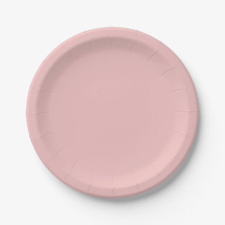 Baby Pink Solid Color Paper Plate