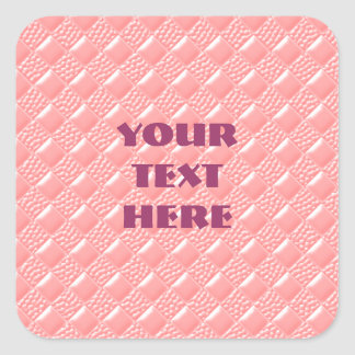Baby Pink Square Sticker