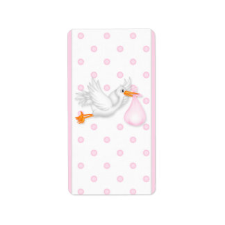 Baby Pink Stork Hersheys Miniature Candy bar wrap Label
