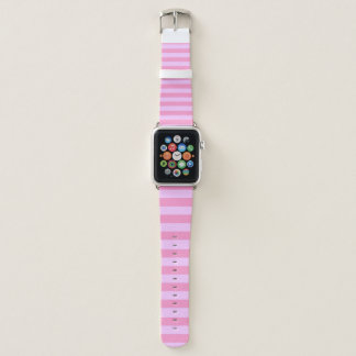 Baby Pink Stripes Apple Watch Band