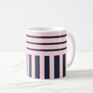 Baby pink stripes coffee mug