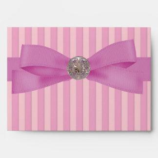 Baby Pink Stripes Elegance Coordinating Envelope