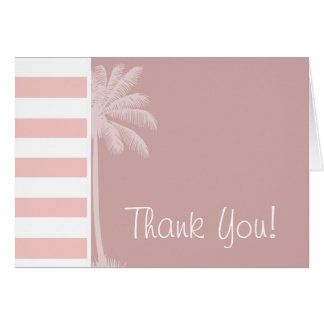 Baby Pink Stripes; Palm Card