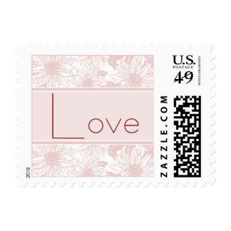 Baby Pink Sunflower Love Wedding Stamp