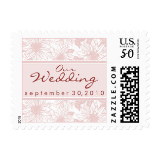 Baby Pink Sunflower Our Wedding Stamp