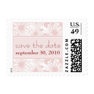 Baby Pink Sunflower Save the Date Wedding Stamp