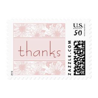 Baby Pink Sunflower Thank You Wedding Stamp