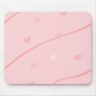 Baby Pink Valentine Heart Pattern Mouse Pad