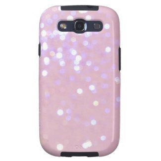 Baby Pink/White Glitter Samsung Galaxy Cover