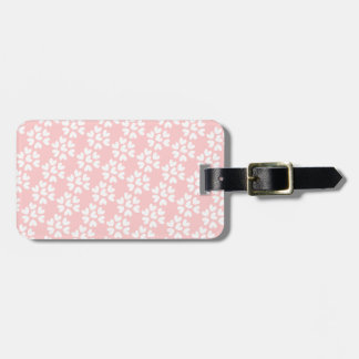 Baby Pink White Sweet Hearts Pattern Luggage Tag