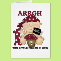 Baby Pirate 1st Birthday Tshirts and Gifts Card