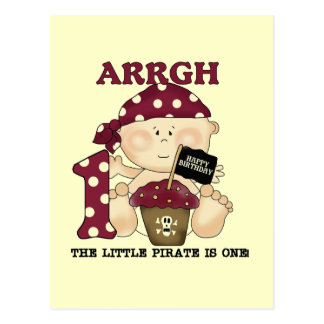 Baby Pirate 1st Birthday Tshirts and Gifts Postcard