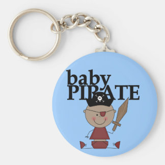 Baby Pirate African American Boy tshirts and Gifts Key Chain