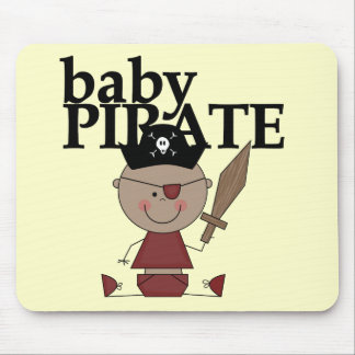 Baby Pirate African American Boy tshirts and Gifts Mouse Pad
