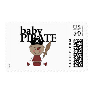 Baby Pirate African American Boy tshirts and Gifts Postage