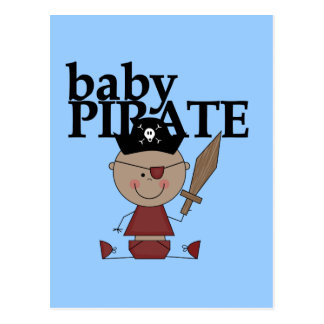 Baby Pirate African American Boy tshirts and Gifts Postcard