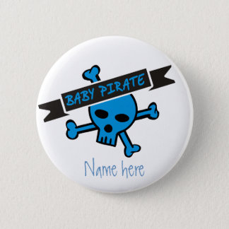 Baby Pirate Boy Button