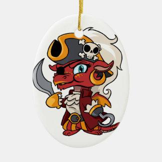 Baby Pirate Dragon Ceramic Ornament