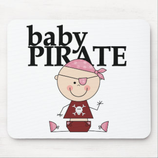 Baby Pirate - Girl Tshirts and Gifts Mouse Pad