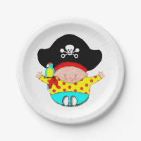 Baby Pirate. Paper Plates  sc 1 st  Zazzle & Boy Pirate Plates | Zazzle
