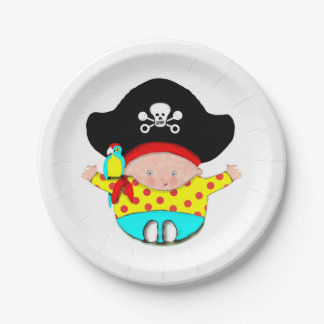 Baby Pirate Paper Plate