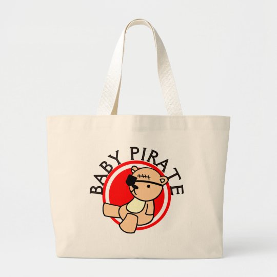 Baby Pirate T-shirts and Gifts Large Tote Bag