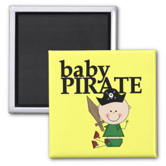 Baby Pirate With Sword - Boy Tshirts and Gifts 2 Inch Square Magnet