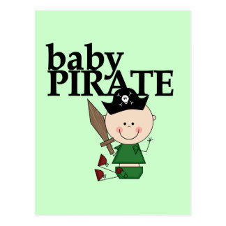 Baby Pirate With Sword - Boy Tshirts and Gifts Postcard