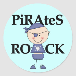 Baby Pirates Rock Tshirts and Gifts Classic Round Sticker