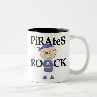 Baby Pirates Rock Tshirts and Gifts Two-Tone Coffee Mug