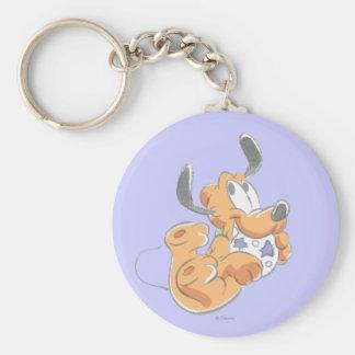 Baby Pluto Basic Round Button Keychain