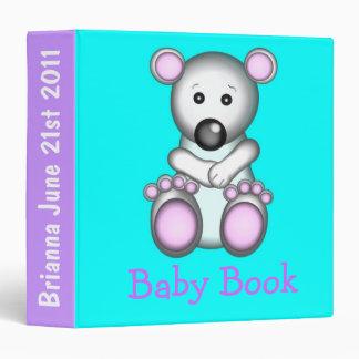 Baby Polar Bear 3-Ring Binder/Album 3 Ring Binder