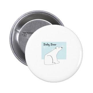 Baby Polar Bear Pinback Buttons