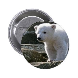 Baby Polar Bear Button