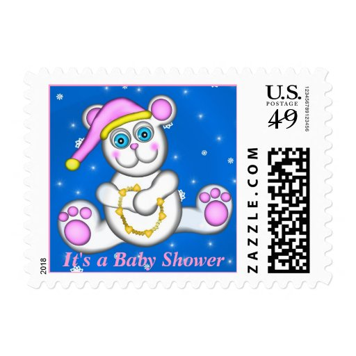Baby Polar Bear, It's a Baby Shower Postage