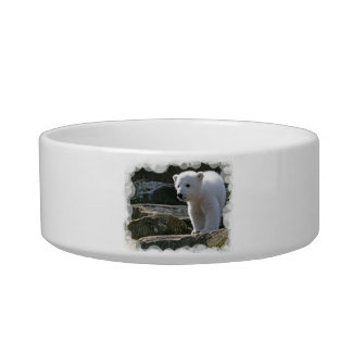 Baby Polar Bear Pet Bowl Cat Food Bowl