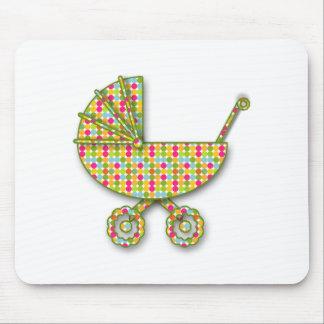 baby polka dot mouse pad