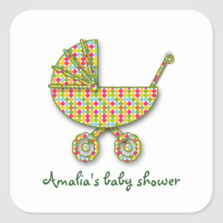 baby polka dot square stickers