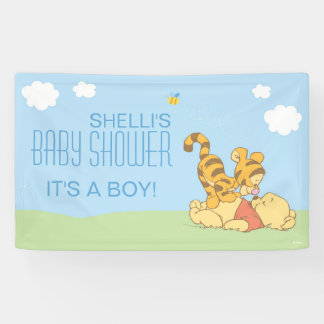 Baby Pooh and Tigger Baby Shower Banner