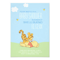 Baby Pooh and Tigger Baby Shower Card