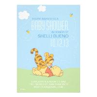 Baby Pooh and Tigger Baby Shower Custom Invite
