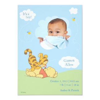 Baby Pooh and Tigger Birth Announcement