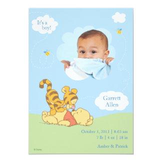 Baby Pooh and Tigger Birth Announcement Invites