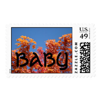 Baby postage stamps Autumn Baby Fall Trees