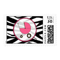 Baby Postage - Zebra Print / Hot Pink