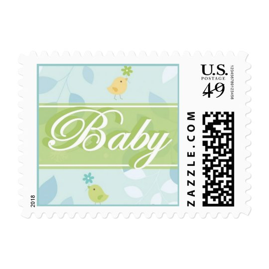 Baby postcard postage stamp