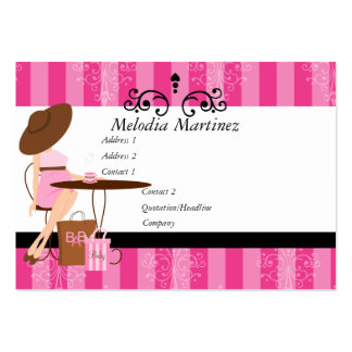 Baby Powder Pink Large Business Card