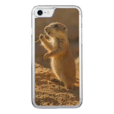 USA Themed Baby prairie dog eating, Arizona Carved iPhone 8/7 Case