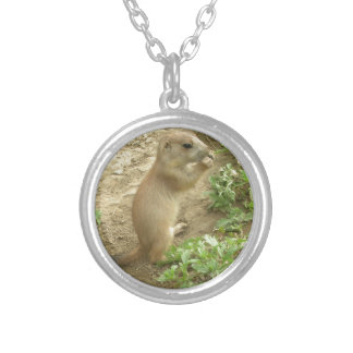Baby Prairie Dog Silver Plated Necklace