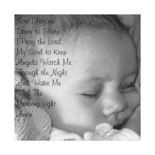Baby Prayer Canvas Prints